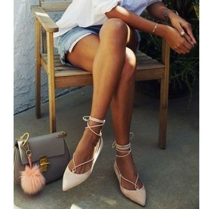 Nude guess flats